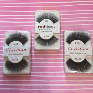 Red cherry lashes & 2 pack Christina lashes NEW